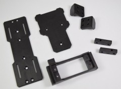 Absima 1230401 - Servo, ESC & Battery Mount Set