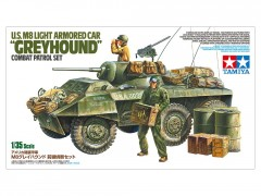 "Tamiya 25196 U.S. M8 Light Armored Car ""Greyhound"" Combat Patrol Set 1/35"