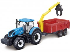 Bburago New Holland T7.315 s drapákem