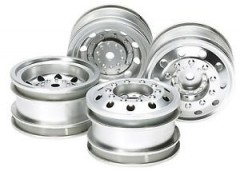 (51588) On Road Racing Truck Wheels - Silver (F&R)