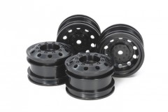 (54741) On Road Racing Truck Wheels - Black (F&R)