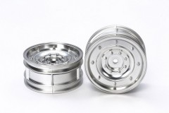 (54737) Matte Plated Silver Dish Wheels (2ks)