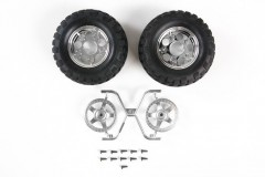 (54554) CC-01 Rock Block Tires w/5 Spoke Wheels (2ks)
