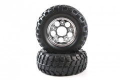 (54484) RC Rock Block Tires - w/2 Piece Mesh Wheels (1 pár)