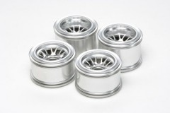 (54201) Tamiya F104 Plated Wheels for Rubber Tires