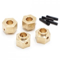 12mm Brass Hex Adaptor 8mm Offset 4pcs For Traxxas TRX-4