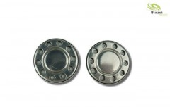 1:14 Hub cover for Euro rims in stainless steel