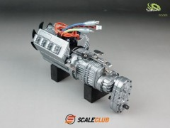 Scale 3-speed gearbox with engine, fan and shift servo