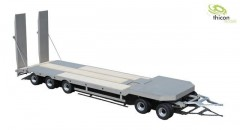 1:14 low loader trailer 5-axle stainless steel RTR