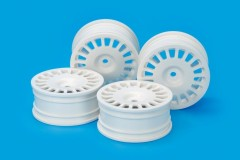 (54851) 24mm Med-Narrow Dish Wheels White/Offset 0 (4Pcs)