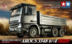 Tamiya (56357/56545) Mercedes-Benz Arocs 3348 6x4 Tipper Truck Tractor + Electric Actuator Combo Set (1)