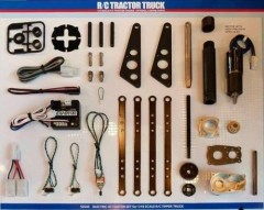 Tamiya (56357/56545) Mercedes-Benz Arocs 3348 6x4 Tipper Truck Tractor + Electric Actuator Combo Set (4)
